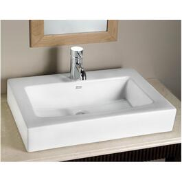 "23"" x 17.5"" Boxe White Above Counter Single Hole Bathroom Sink thumb"