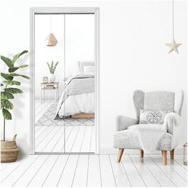 "30"" x 80"" Frameless White Mirror Bifold Door thumb"