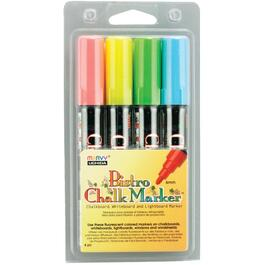 4 Pack Fluorescent Red, Blue, Green and Yellow Bistro Chalk Markers thumb
