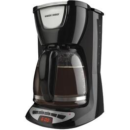 12 Cup Black Basket Coffee Maker, with Timer thumb