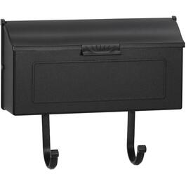 Black Aluminum Horizontal Wall Mount Mailbox thumb