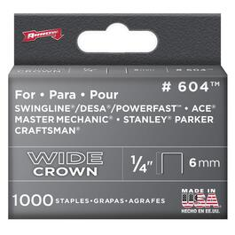 "1000 Pack 1/4"" Wide-Crown Staples, for #800X Stapler thumb"