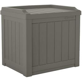 3.4 Cu. Ft Resin Wicker Storage Deck Box, with Seat thumb