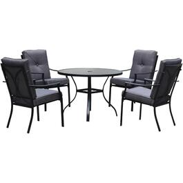 5 Piece Grandon Park Steel Dining Set, with Cushions thumb