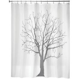 "72"" x 72"" Charcoal Tree Polyester Shower Curtain thumb"