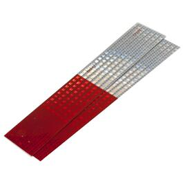 "2 Pack 2"" x 12"" Red and Silver Reflective Tape thumb"