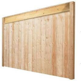5' Spruce 2x6 Sanded One Side Jasper Privacy Top Fence Package thumb