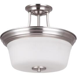 Seattle Satin Nickel Semi-Flush Light Fixture thumb