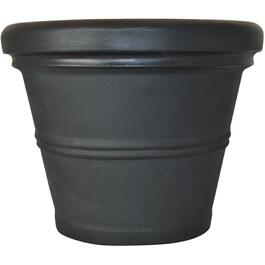 "15.5"" Black Rolled Rim Poly Planter thumb"