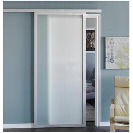"36"" x 84"" Aluminium Sliding Door, with Opaque Glass thumb"
