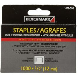"1000 Pack 1/2"" Staples, for T50 Stapler thumb"
