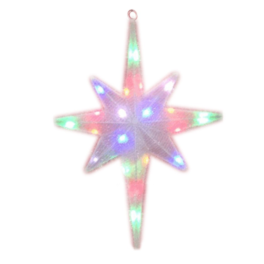 Danson Decor 3 Pack Twig Pathway Markers With 60 Blue Twinkling Led Christmas Star 24 Indoor Outdoor Motif 20 Leds