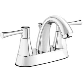 3 Hole 2 Lever Handle Chrome Lavatory Faucet with Pop-Up thumb
