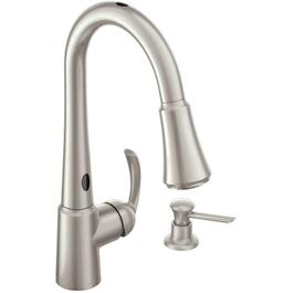 Delaney Spot Resist Stainless Steel 1 Handle Pulldown Kitchen Faucet with Motion Sense thumb