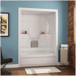 "60"" 3 Piece White Acrylic Left Hand Tub and Shower thumb"