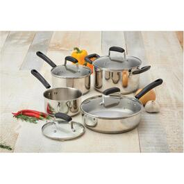 8 Piece Stainless Steel Cookware Set, with Glass Lids thumb