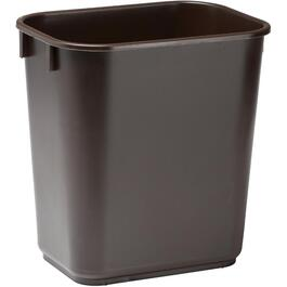 14 Quart Rectangular Brown Wastebasket thumb