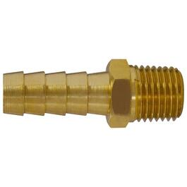 "3/8"" Insert x 1/4"" Male Pipe Thread Brass Hose Connector thumb"