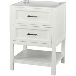 "24"" x 22"" Georgette 1 Drawer + 1 Shelf White Vanity thumb"