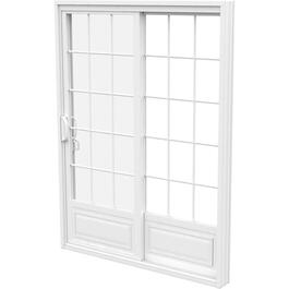 "5' x 6'8"" Fixed Operating 1+1 PVC Garden Door, with Grille thumb"