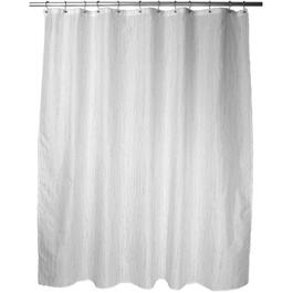 "70"" x 72"" White Drizzle Polyester Shower Curtain thumb"