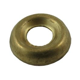 10 Pack #6 Plain Brass Finish Washers thumb