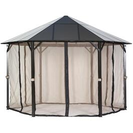 13' Santa Clara Aluminum Composite Hard Top Gazebo, with Mosquito Net thumb