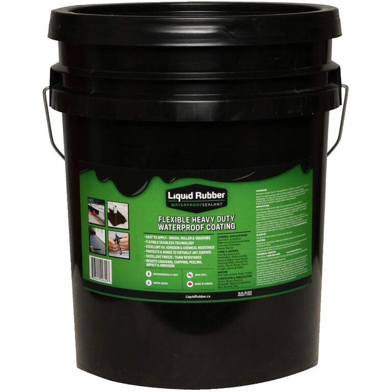 LIQUID RUBBER 18 9L Black Liquid Rubber Sealant