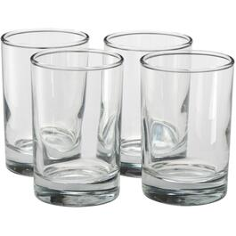 4 Pack 5.5oz Heavy Base Juice Tumbler Set thumb