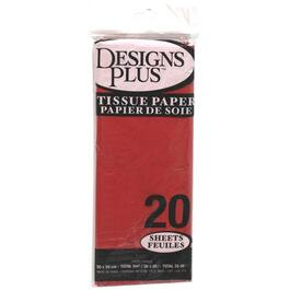 "20 Pack 20"" x 20"" Red Tissue Paper thumb"