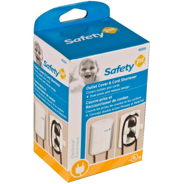 safety 1st outlet cover, with cord shortener - home hardware canada