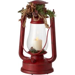 "15"" Battery Operated Plastic Hurricane Decor Tabletop Lantern, Assorted Colours thumb"