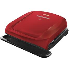 Red 4 Serving Contact Grill, with Removable Plates thumb
