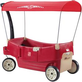 Red Resin Children's Wagon, with All Around Canopy thumb