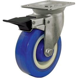 "5"" Polyamide Wheel Swivel Plate Caster, with Brake thumb"