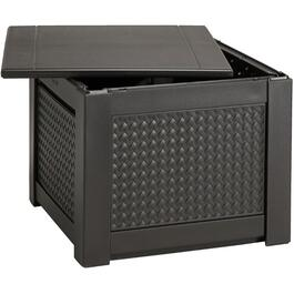 7.5 Cu. Ft Resin Wicker Cube Storage Deck Box thumb