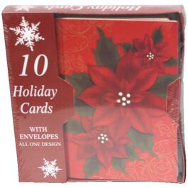 10 Pack Christmas Cards, Assorted Styles thumb