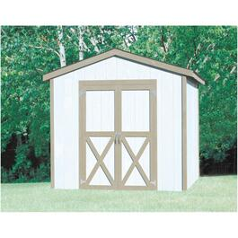 8' x 8' Stick Built Gable Shed Package, with Vinyl Siding thumb