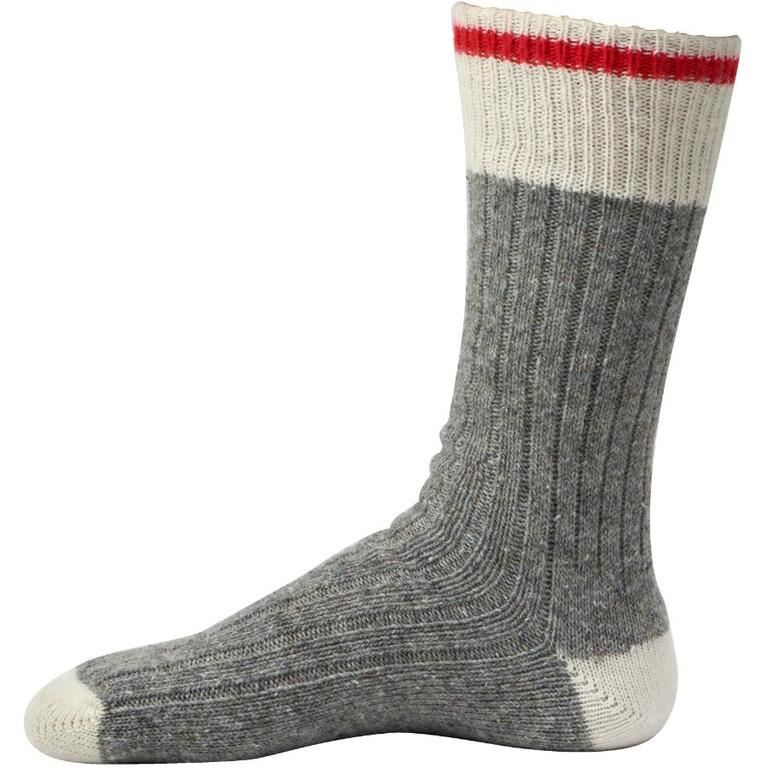 7026de60f3225 DURAY 3 Pairs Mens Natural Grey Wool Blend Work Socks