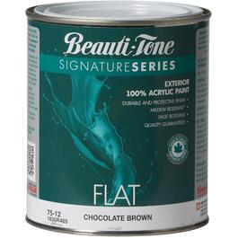 925mL Flat Chocolate Brown Exterior Latex Paint thumb