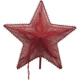"11.5"" Red Thread Star Tree Topper, with Lights thumb"