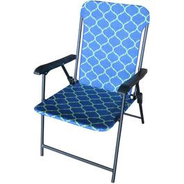 Blue/Green Fabric Fashion Folding Chair thumb