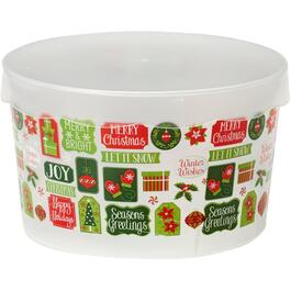 3L Plastic Christmas Cookie Storage Container, Assorted Designs thumb