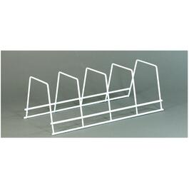 "14"" x 5"" x 6"" White Wire Dinnerware Rack thumb"