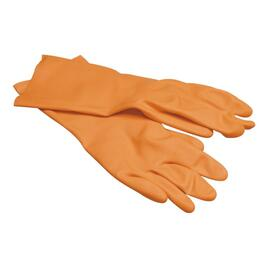 Extra Large Orange Heavy Duty Industrial Latex Work Gloves thumb