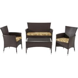 4 Piece Fremont Wicker Conversation Set thumb