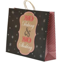 Horizontal Christmas Paper Gift Bag, with Assorted Sayings thumb
