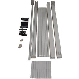 4' Taupe Aluminum Straight Gate Picket Railing Package thumb