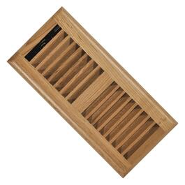 "4"" x 10"" Light Oak Louvered Floor Diffuser thumb"