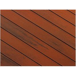 "1"" x 5-1/8"" x 16' AccuSpan Variegated Brazilian Cherry Grooved Edge Deck Board thumb"